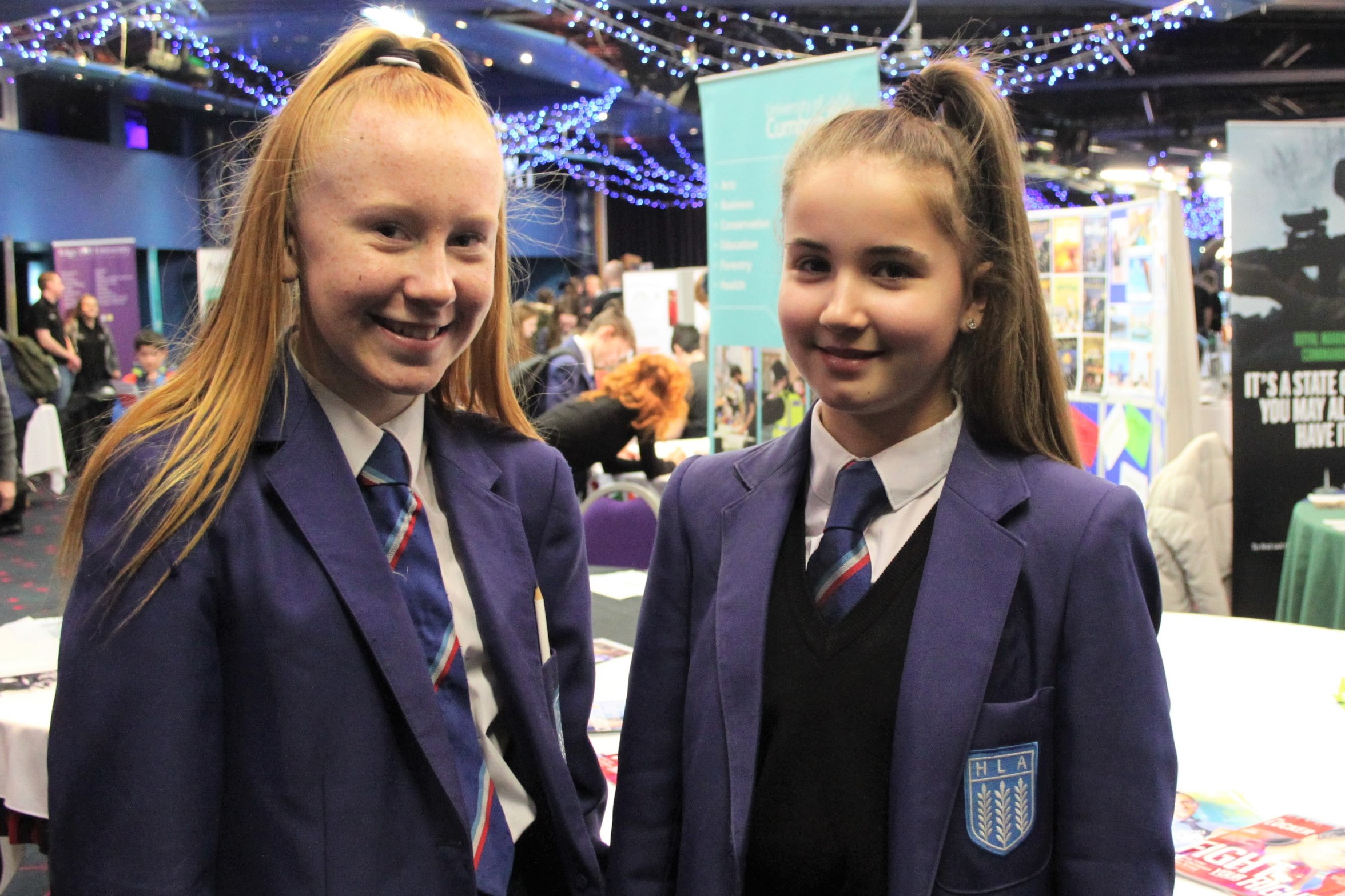 006 Jodie (L) and Millie (R) at the careers fair